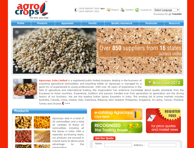 Agrocrops Exim Limited