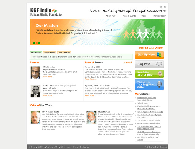 KGF India - Kalidas Ghalib Foundation