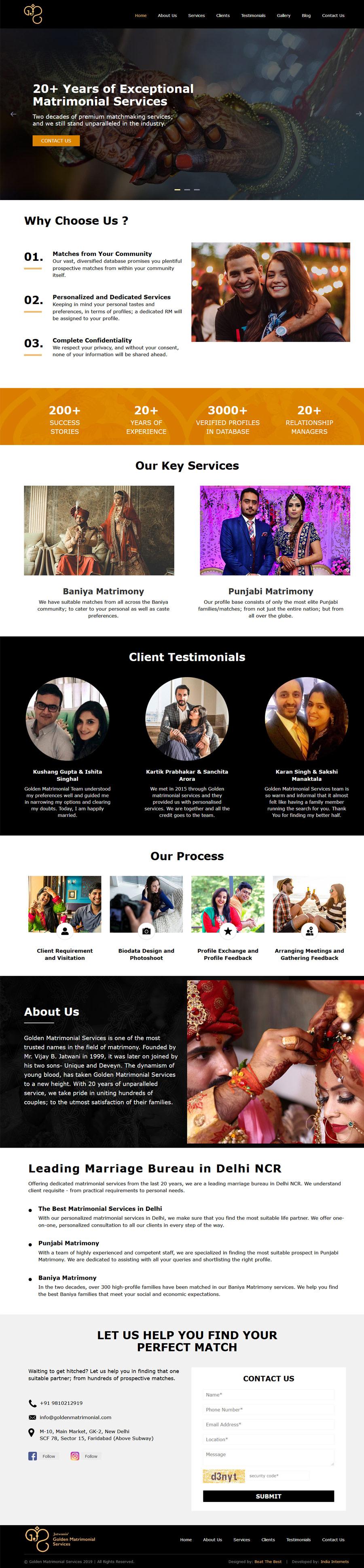 Golden Matrimonial Services