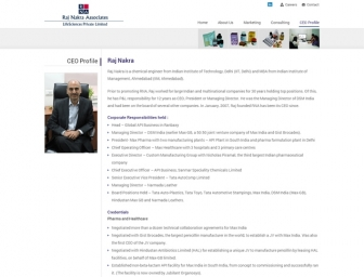 CEO Profile page view