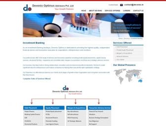 Investment Banking page view