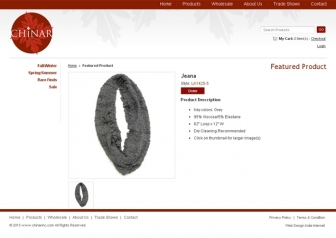 Product Description page view