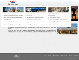 Services offered page view