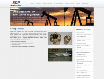 Coring Services page view